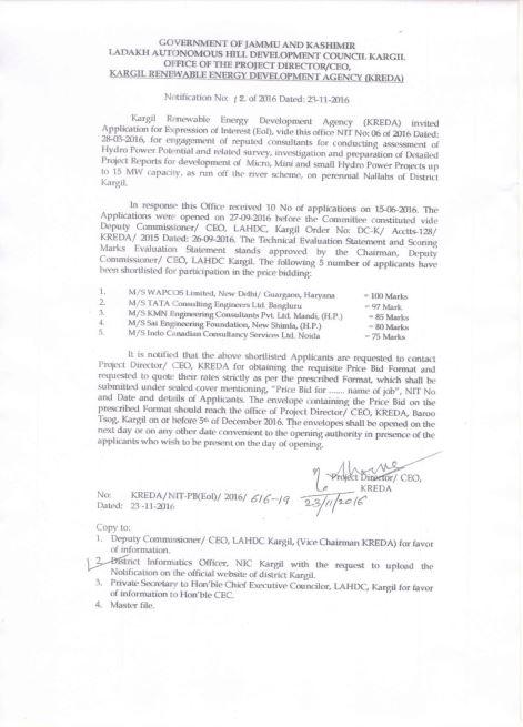 Qualification letter kargil-1