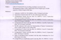 Kargil award letter